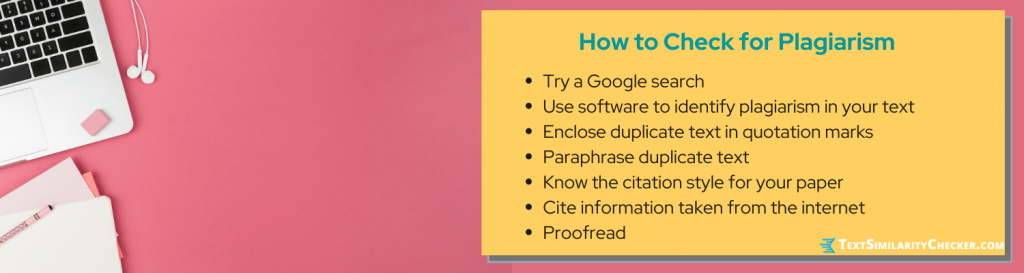 how to check for plagiarism